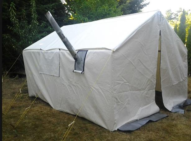 12x14 Nylon/canvas Wall Tent with Stove port & 12x14 Nylon/canvas Wall Tent with Stove port West Shore: Langford ...
