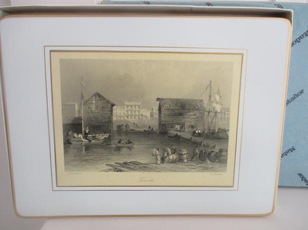 Vintage 1840's Scenes of Canada Cork Placemats