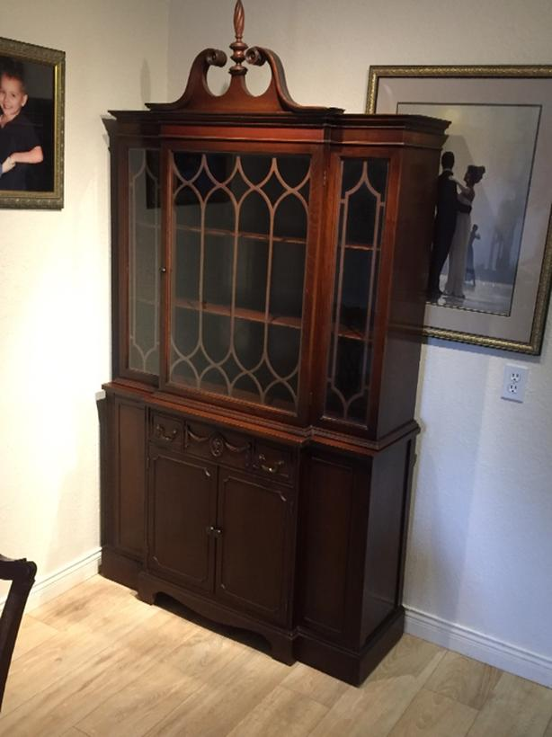 medium size china cabinet mahogany  beauty