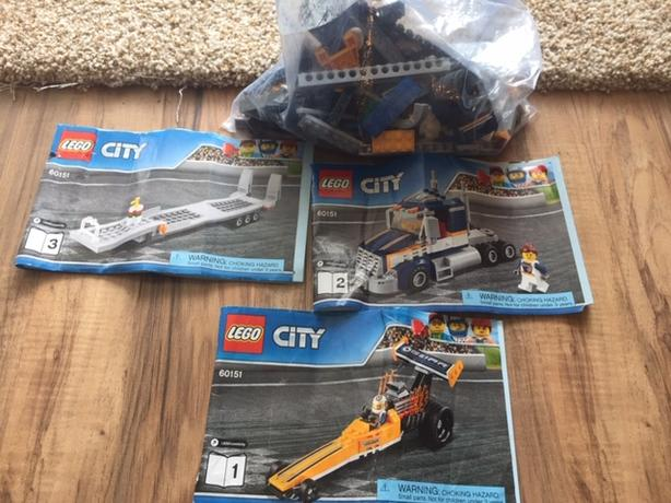  Log In needed $50 · LEGO City Great Vehicles Dragster Transporter 60151  building toy