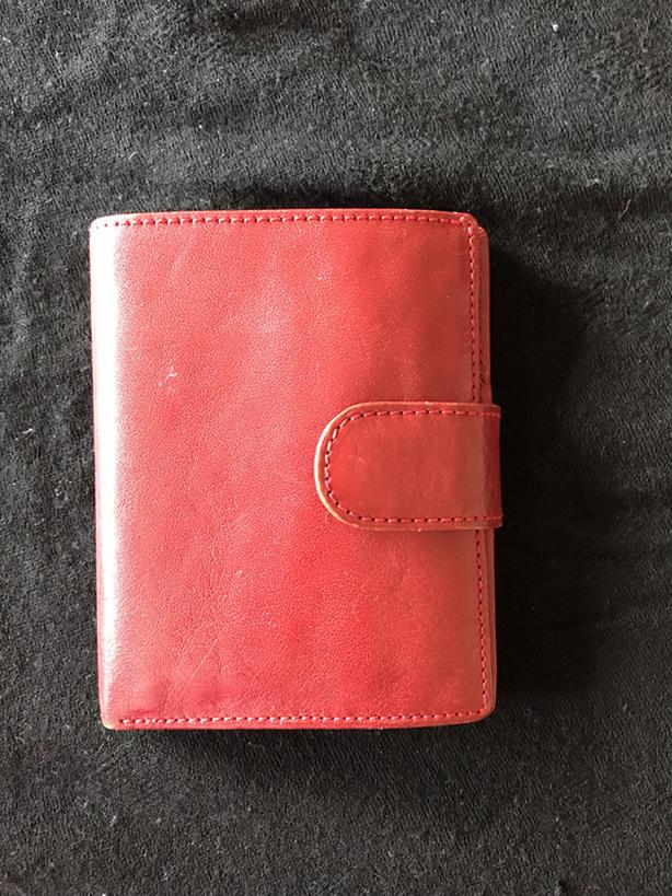 Red female wallet