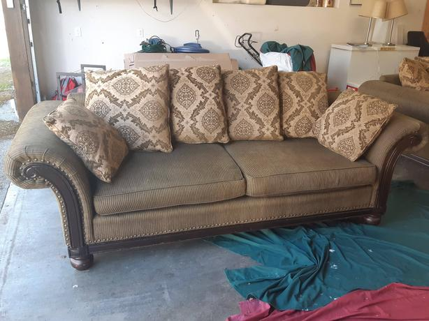 Wondrous Ornate Couch Loveseat Ottoman With Beautiful Detailing Gmtry Best Dining Table And Chair Ideas Images Gmtryco
