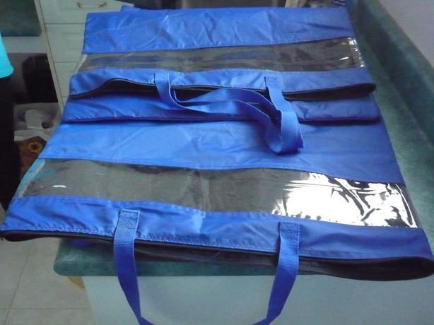2 New Large Zippered Storage Bags