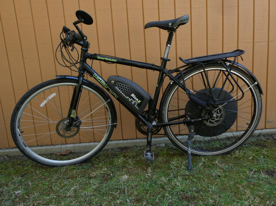Kona Dew Deluxe Hybrid Bicycle With Bionx 500w Electric