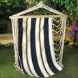 Navy Blue Striped Hanging Swing Chair Set of 2 Brand New