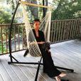 Hanging Rope Hammock Swing Chair Set of 2 Brand New Neutral