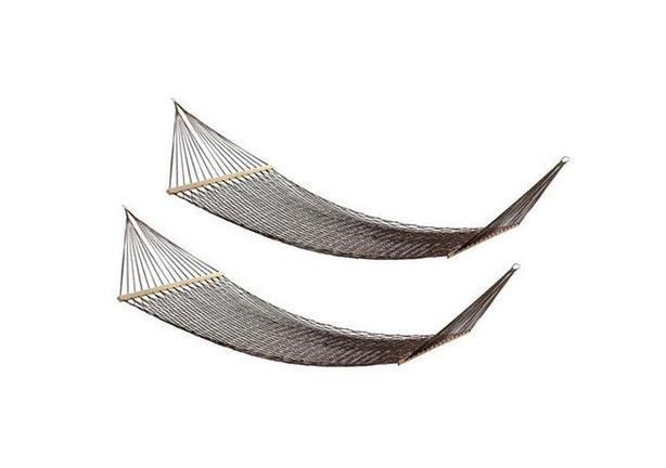Double 2-Person Brown Rope Hammock Set of 2 Brand New