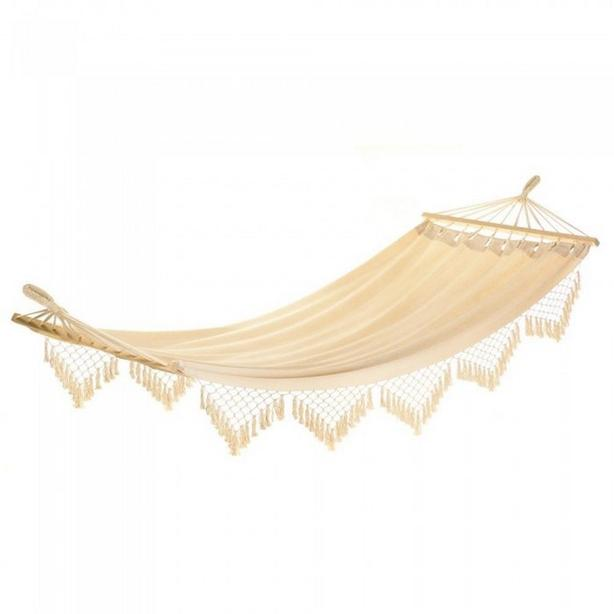 Cotton Canvas Hammock with Stylish Fringe Cape Cod Style Brand New