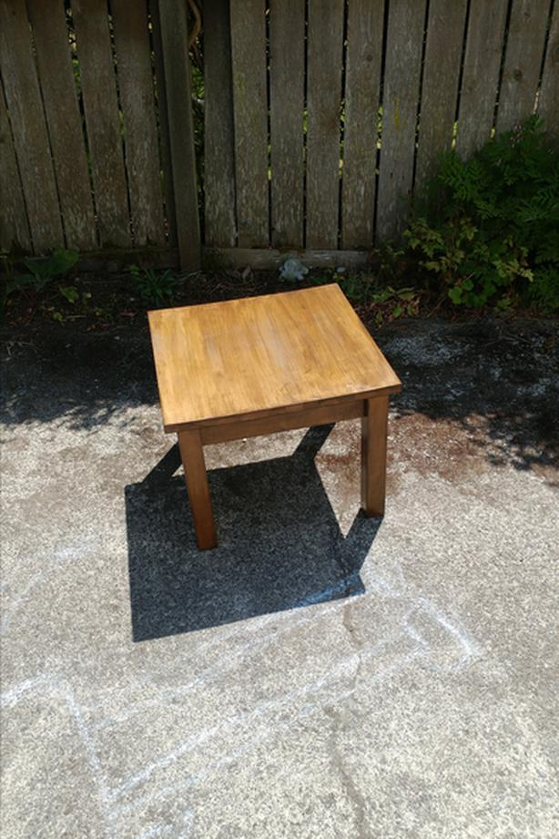 Coffee table solid wood, small square