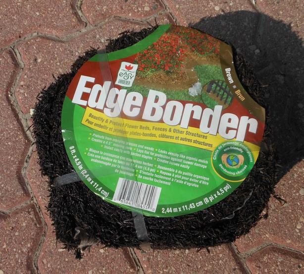 Lawn and garden edging, 8 foot roll, brown