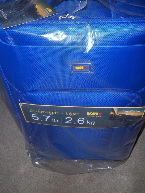 Brand new Via Rail luggage - Lightweight