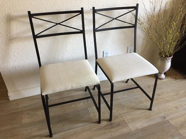 wrought iron chairs by Charleston Forge