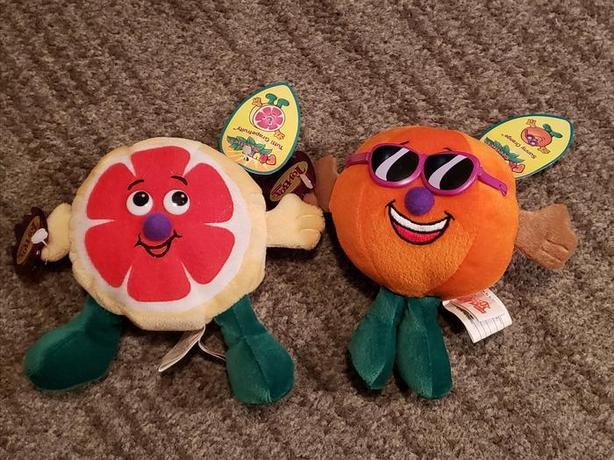 Toy Box Fruit Seedies Stuffed Plush - Lot of 2
