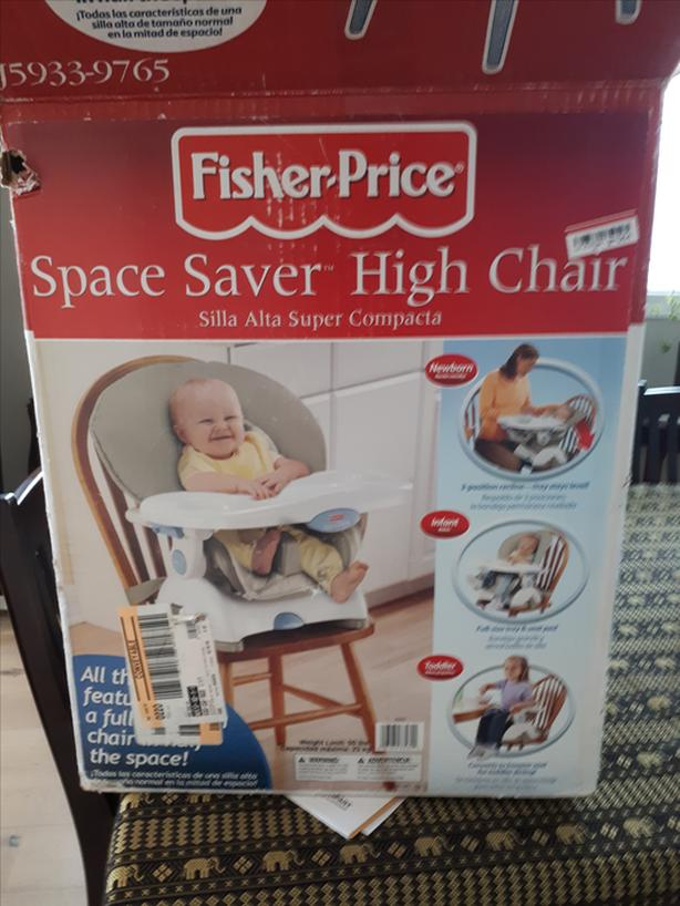 Groovy Fisher Price Space Saver High Chair Reduced For Quick Sale Dailytribune Chair Design For Home Dailytribuneorg