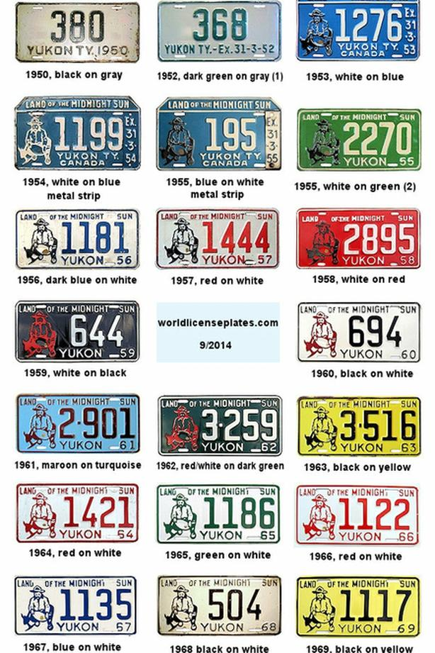 Buying old Canadian Territories & Military License Plates