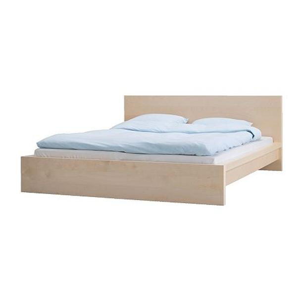 Ikea MALM Bed Frame with Slats - Low - Birch - Queen