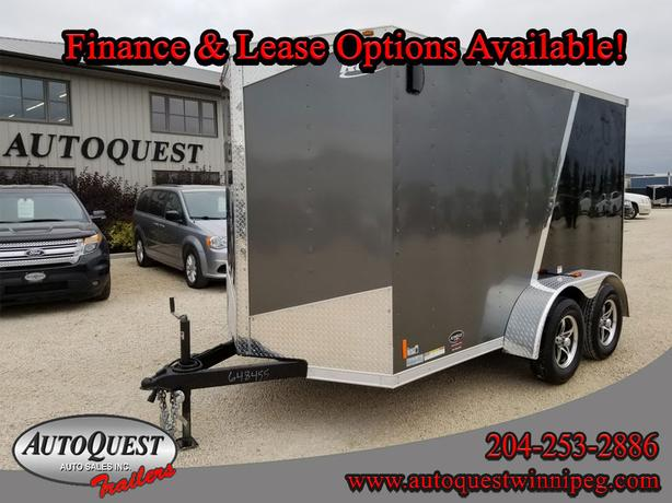 """2019 RC Trailers 6' x 12' x 78"""" V-Nose Cargo Trailer- 7 000 lbs"""