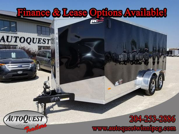 """2019 RC Trailers 7' x 16' x 72"""" V-Nose Cargo Trailer - 7 000 lbs"""