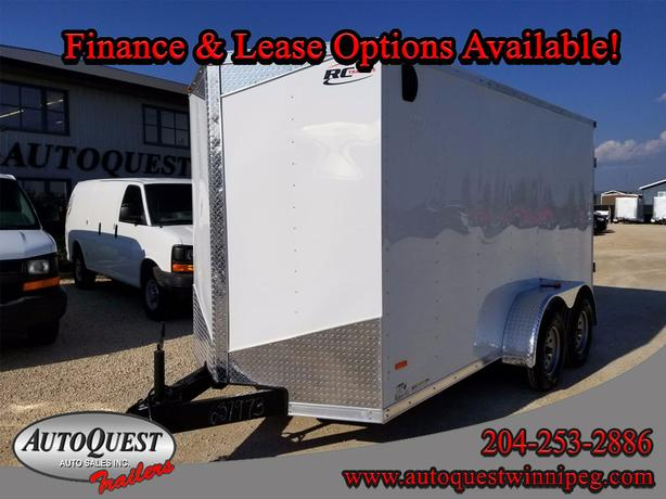 """2018 RC Trailers 6' x 14' x 78"""" V-Nose Cargo Trailer - 7 000 lbs"""