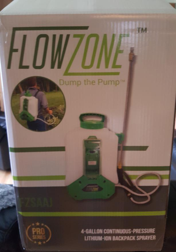 Flow Zone 4 Gallon Battery Operated Backpack Sprayer
