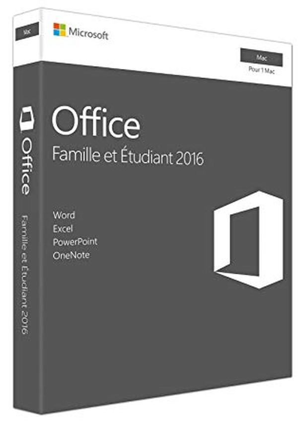 Office Famille et Étudiant 2016 Pour 1 Mac (Français/French) - Nouveau