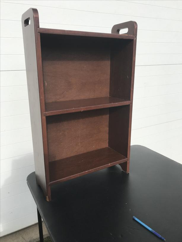 Real wood small bookcase- N. Duncan