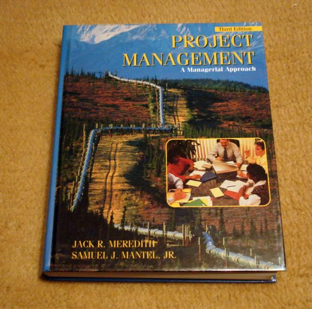 Project Management, A Managerial Approach textbook, Excellent Condition