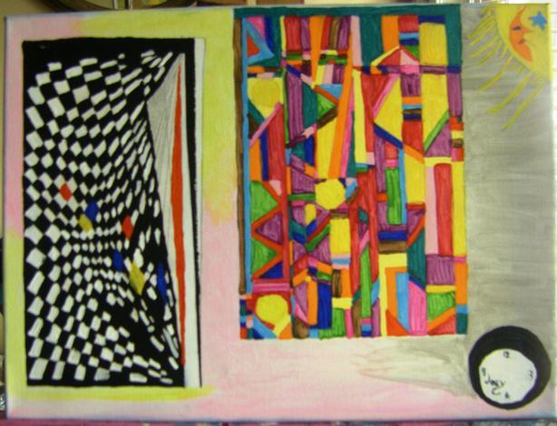 """""""Faceless Time"""".  12 x 16.  Acrylic.  Unframed."""