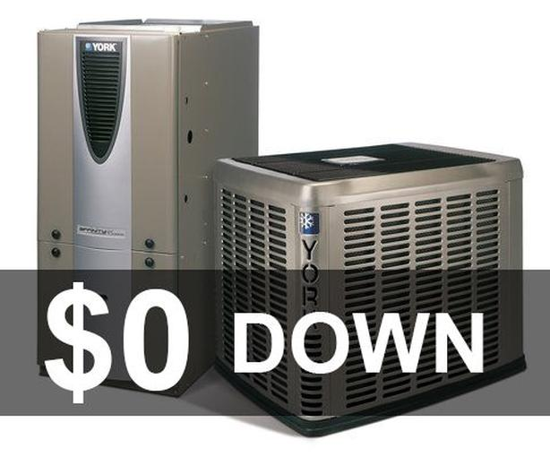 Furnace - 16 SEER Air Conditioner - Rent to Own - $0 down - NO Credit