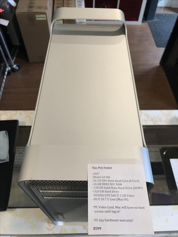 BLOW OUT SALE! Mac Pro Tower 8Core 16GB RAM 120GB SSD + 320GB HD w/ Warranty!