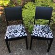 Pair of retro black chairs