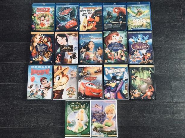 17 Blu Ray Dvd Disney Amp Pixar Animated Movies Collection