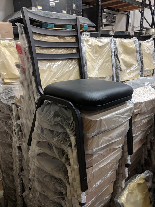 150 Brand-New Metal Stacking Chairs Liquidation – Best Offer April 13