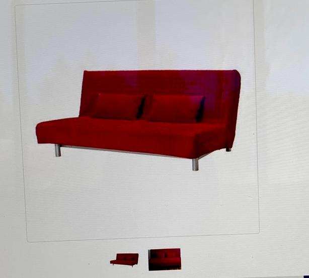 new concept 4f17b e55f5 Ikea Futon with red cover Saanich, Victoria