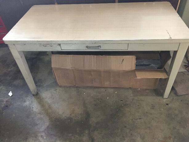 steel tables x2