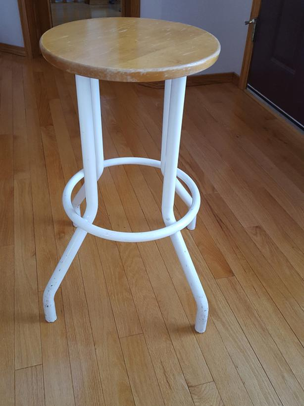 Metal & wood bar stool - on hold - do not contact!