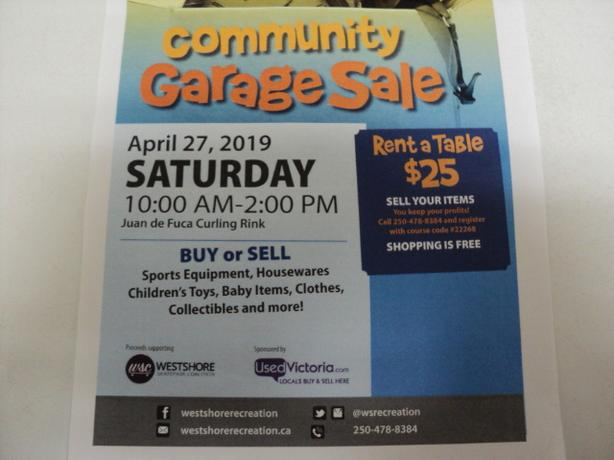 Juan de Fuca Rec BIG Community Garage Sale FREE ADMISSION
