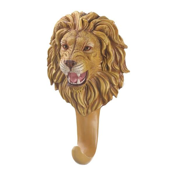 Sculpted Lion Head-Bust Figural Wall Hook Gifts Resale Bulk Buy 6 Lot NEW