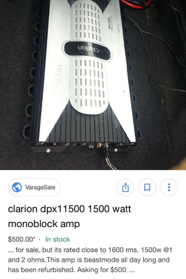 1000rms sub, 1500 rms amp and box Victoria City, Victoria