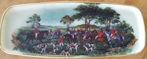 Vintage Hunting Fiberglass Tray