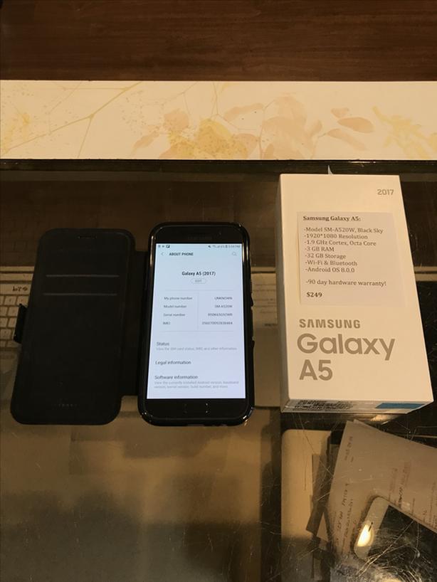 Samsung Galaxy A5 2017 Model Black Sky w/ Warranty!