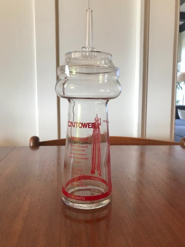 Rare vintage CN tower collectable glass