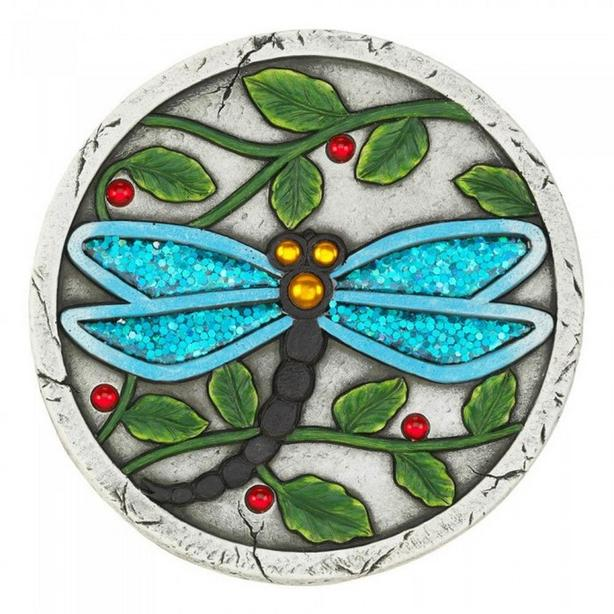 Dragonfly Butterfly Cement Stepping Stones Glittery Wings 5 Lot Choice