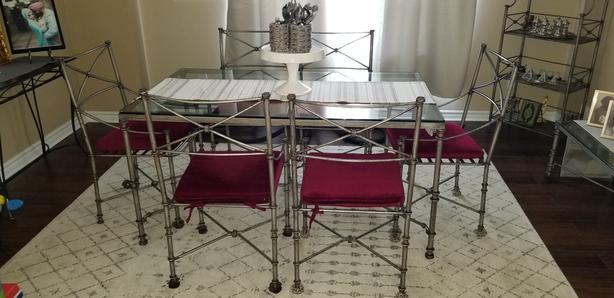 Pier One Medici Pewter Iron Dining Room set