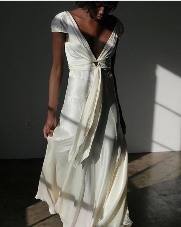Gorgeous vintage italian silk dress - never worn