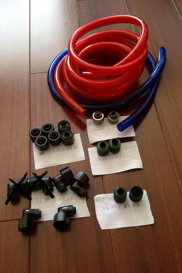 3/8 ID x 5/8 OD water cooling fittings