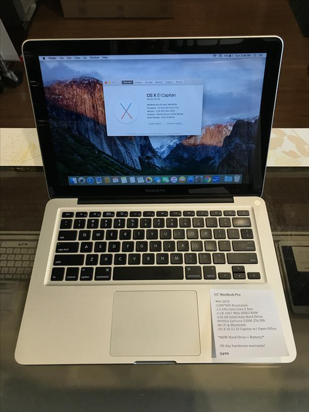 "13"" MacBook Pro 2.4GHz Intel Core 2 Duo 4GB RAM 128GB SSD w/ Warranty!"