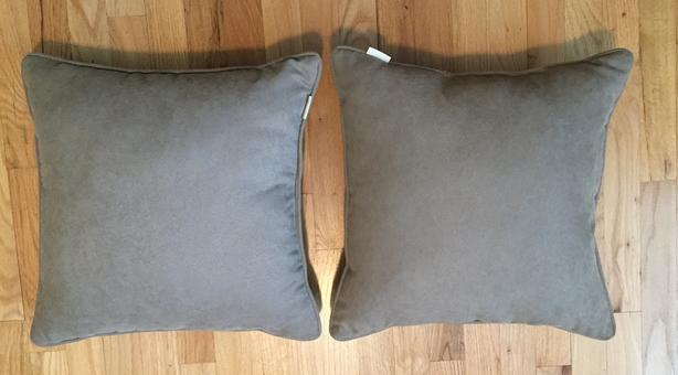 Pair of Pier One Taupe Coloured Pillows