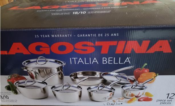 Lagostina Italia Bella pots and pans