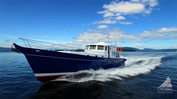 2014 68ft Alum Hull Pilothouse Luxury Yacht with Gyro Stabilizer